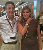 Olly Taylor with Baroness Karen Brady